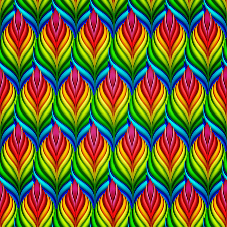 macro flowers: Seamless patterns with colorful abstract leaves. Vector set.