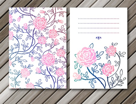 Vintage roses background. Vector illustration, EPS 10