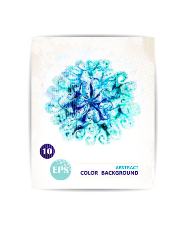 Watercolor flowers, watercolor design element, hand drawn vector illustration. Illustration