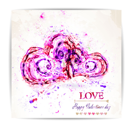 heart abstract: Vector illustration by Valentine Day with abstract heart. Vector,