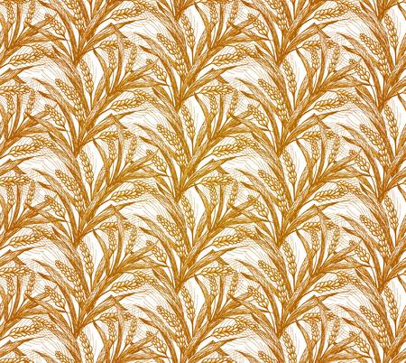 rye: Rye Seamless Pattern. Vector illustration,