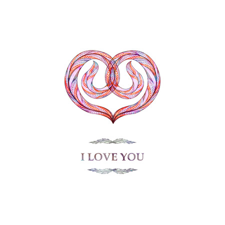 abstract love: Abstract heart. I love you card, background. Vector illustration,