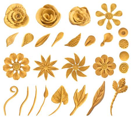 Set of floral graphic design elements. Vector, Stock Illustratie