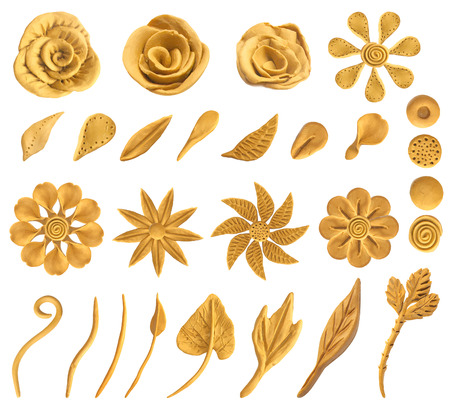 Set of floral graphic design elements. Vector, 向量圖像