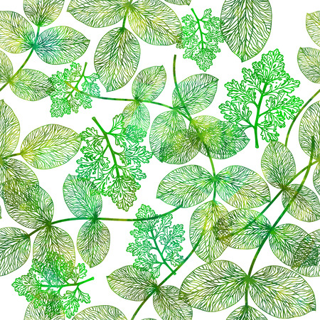 Seamless pattern with abstract leaf. Vector illustration,