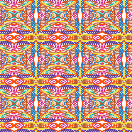 Vector retro pattern of geometric shapes. Seamless abstract texture. Stock Illustratie