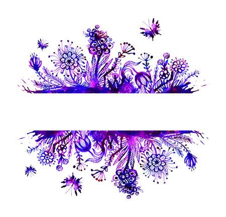 papel tapiz turquesa: Fondo floral del vector con las flores. Vectores