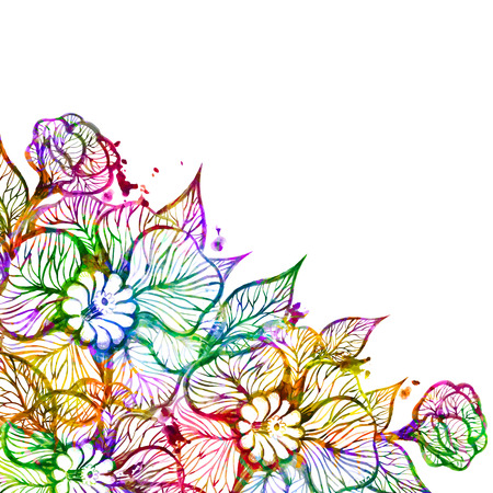 Vector floral background with flowers