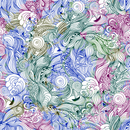 Abstract seamless pattern with flowers. Illustration