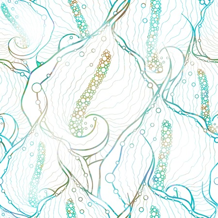 Abstract seamless pattern with calla flowers. Stock Illustratie