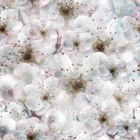 Spring flower vintage seamless pattern.