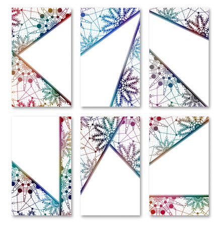 Set of cards, label and tag templates with lace tribal art designs. design backgrounds collection. Vintage style.