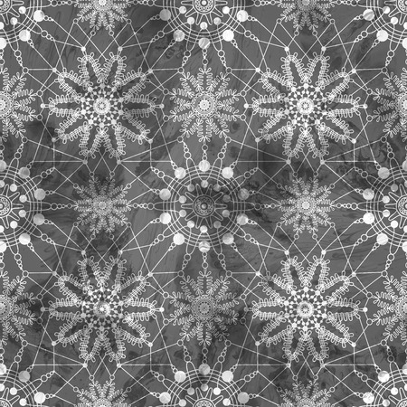 Lace pattern seamless with flowers on dark vintage background. illustration Vettoriali