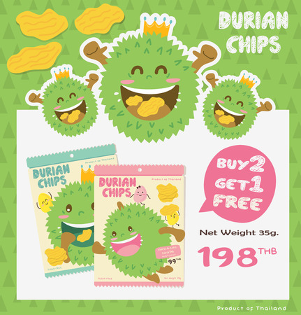 Cute Durian Promotion Poster & Packaging Design