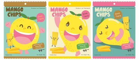 Ładny projekt opakowania wektor mango