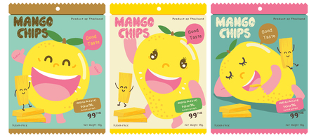 Cute Mango Vector Packaging Design
