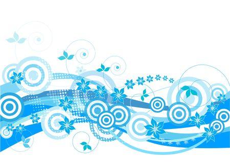 Blue, floral, decorative  photo