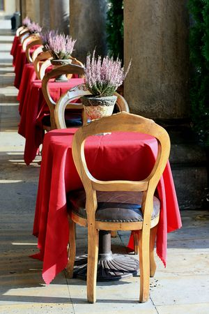 cracow: Stylish restaurant in Cracow  Stock Photo