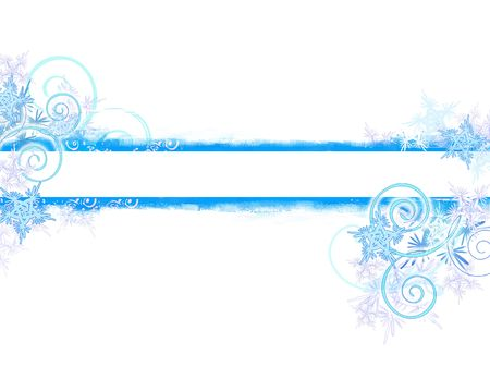 Winter grunge banner on white