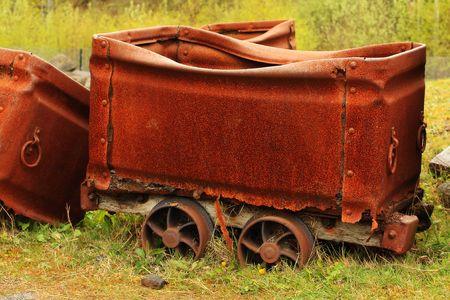 Old rusty coal wagon Stock Photo - 4876122