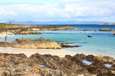 Iona island, seashore with rocks photo
