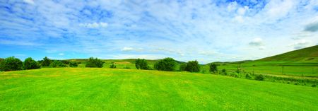 Beautiful panorama of summer landscape in Scotland Stock Photo - 7236554