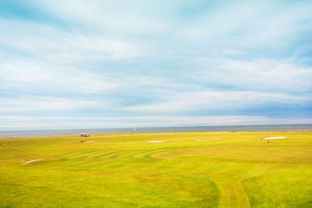Golf course in the fields of Scotland Stock Photo - 7332529