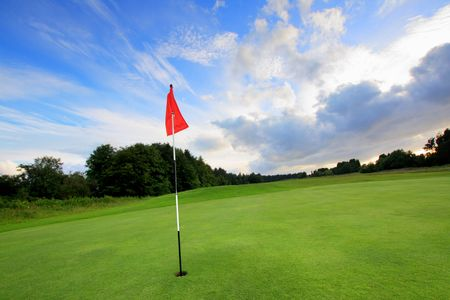 Golf course with amazing clouds in Scotland Stock Photo - 7412817