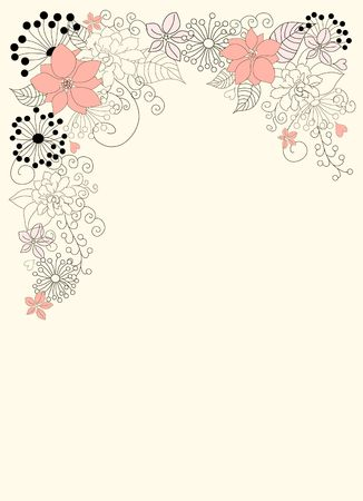 Beautiful backgroung with floral decoration Stock Photo - 7433136