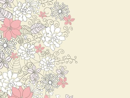 Beautiful backgroung with floral decoration