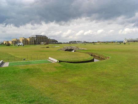 Old golf course in St Andrews photo