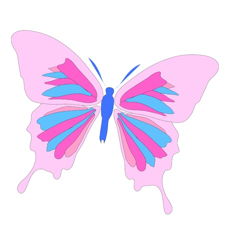 buttefly: Pink butterfly