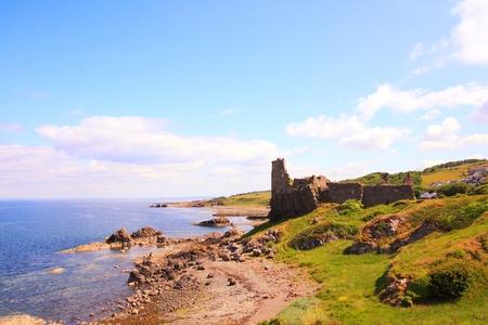 Ruins of Dunure Castle, Ayrshire, Scotland photo
