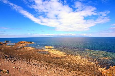 The seashore in Ayrshire, Scotland photo