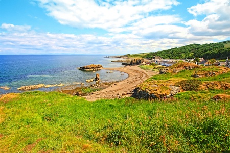 The view from Dunure Castle photo