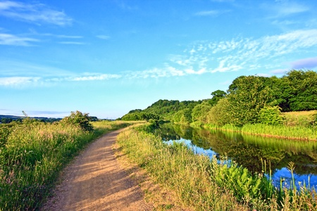 walking path: Forth and Clyde Canal, walking path, Scotland