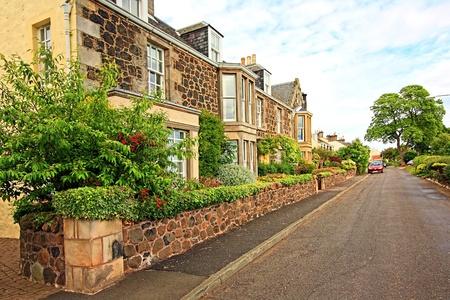Scottish houses in Summer Stock Photo - 9001646