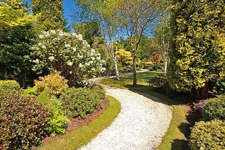 Beautiful Spring garden on sunny day Stock Photo - 9479229