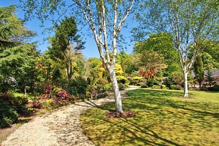 Beautiful Spring garden on sunny day Stock Photo - 9479224