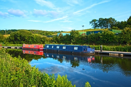 forth: Forth and Clyde canal, Scotland Stock Photo