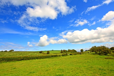 Scottish landscape with clouds in the sky Stock Photo - 10111596