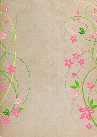 Natural grungy background with flowers  Stock Photo - 10673633