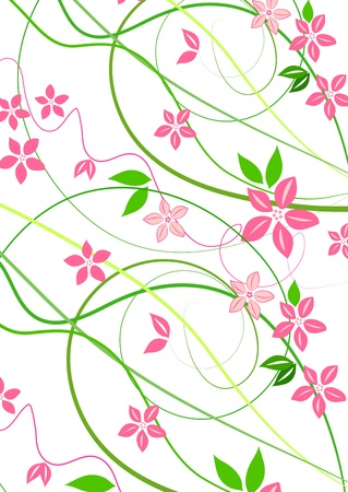 lowers: Delicate background with pink lowers
