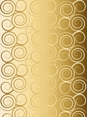Golden background with elegant pattern photo