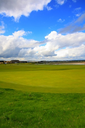 andrews: Golf course in St Andrews, Scotland Stock Photo