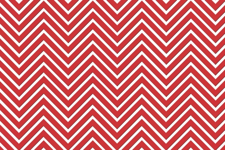 Trendy chevron patterned background red and white Stock Photo