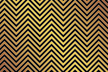 Trendy chevron patterned background, golden, black and white photo