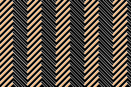 Trendy chevron patterned background, orange, black and white photo
