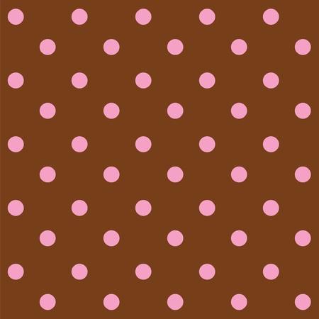 Dots chocolade en roze naadloze patroon Vector Illustratie