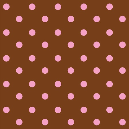 Dots chocolate and pink seamless pattern Vector
